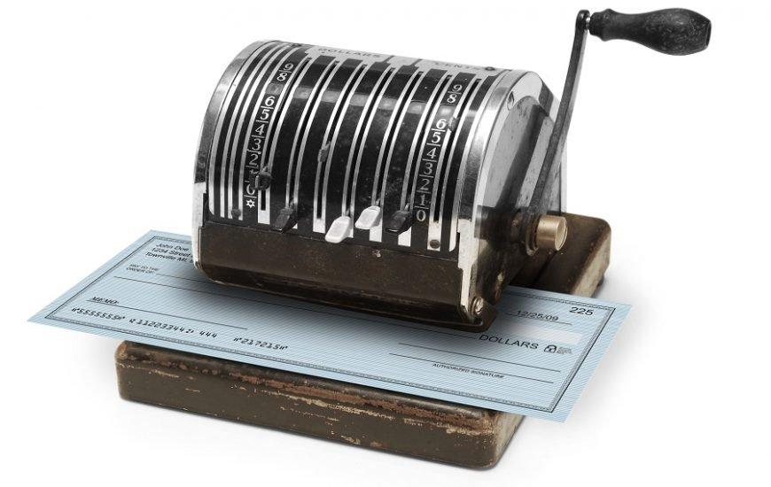 chèque à imprime